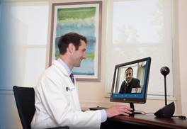 BIDMC Cardiologist and Patient at Telehealth Visit