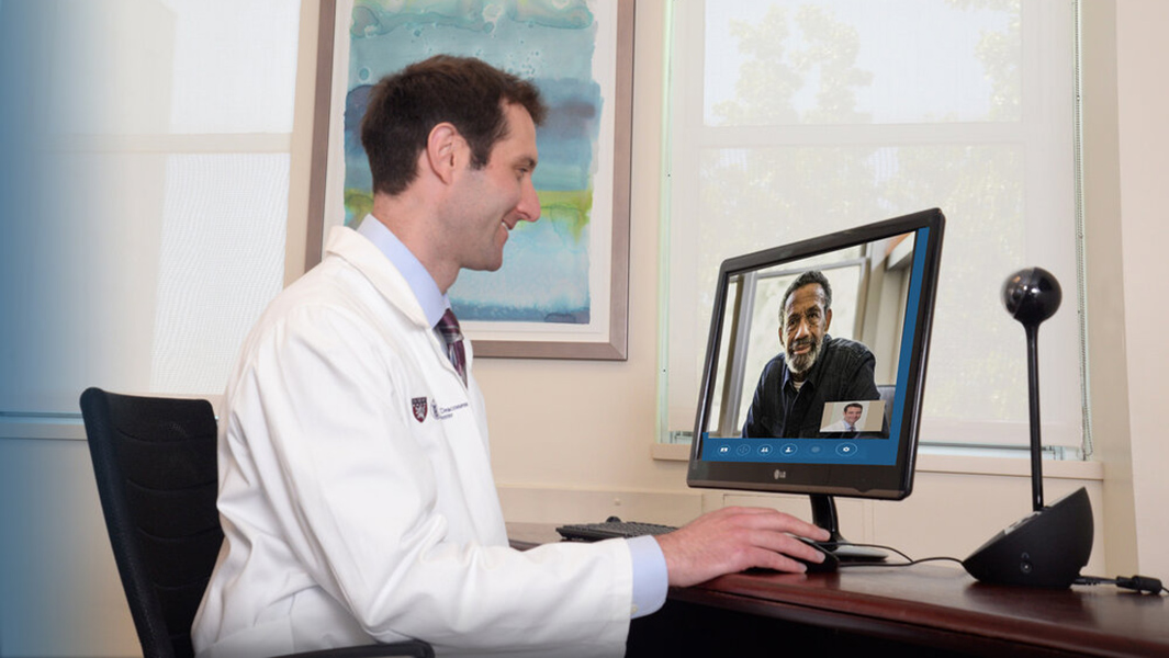 Doctor having a telehealth appointment with a patient